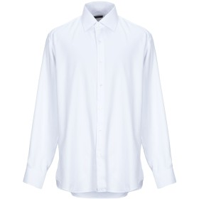 《期間限定セール開催中!》EMPORIO CLOTHING メンズ シャツ ホワイト 45 コットン 100%