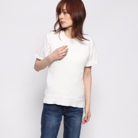 セブンデイズ サンデイ SEVENDAYS=SUNDAY outlet teeシャツ付ニットベストプルオーバー (アイボリー)