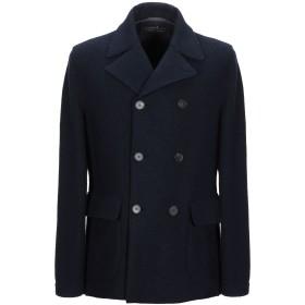 《期間限定 セール開催中》eWOOLuzione メンズ コート ダークブルー 50 バージンウール 100%