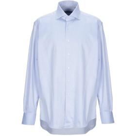 《送料無料》XACUS メンズ シャツ ブルー 45 コットン 100%
