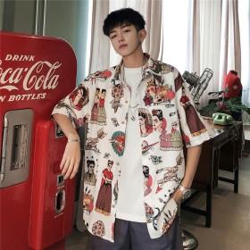 2019新品 大人気 韓国ファッション 男女兼用 欧米風ファッション メンズ レディース シャツ 短袖トップス 個性 流行 上質