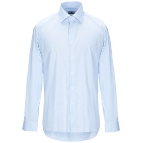 《セール開催中》ALEA メンズ シャツ スカイブルー 42 コットン 72% / ナイロン 24% / ポリウレタン 4%