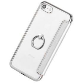 スマホケース - LUPIS フィンガーリング付きクリア手帳型iPhone用ケース【iPhone7・iPhone8 iPhoneケース リング付き 手帳型 カードポケット ギフト 激安 人気】