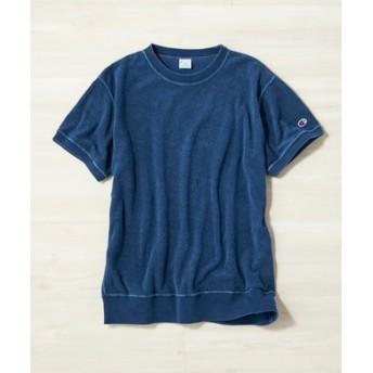 Champion インディゴスウェットTシャツ メンズ 中濃色