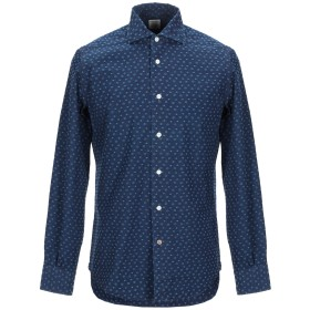 《期間限定セール開催中!》MAZZARELLI メンズ シャツ ダークブルー 39 コットン 100%
