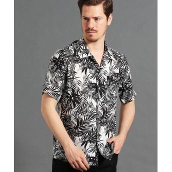 【44%OFF】 ムッシュニコル ボタニカルプリントオープンカラーシャツ メンズ 09ホワイト 50(LL) 【MONSIEUR NICOLE】 【タイムセール開催中】