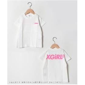 X-girl Stages 袖ラインスポーツTシャツ(ホワイト)【返品不可商品】