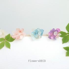 咲き誇る紫陽花 パステル gradation【ポニーフック・ヘアーパーツ変更可】