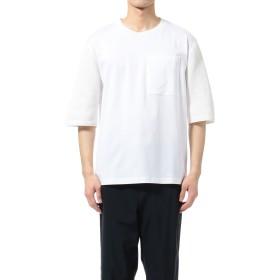 【オンワード】 OPENING CEREMONY MENS(オープニングセレモニー メンズ) 【洗える】KNIT COMBI T-SHIRT / ニットコンビTシャツ ホワイト OS メンズ 【送料無料】