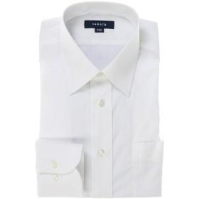 タカキュー 形態安定レギュラーフィットブロードレギュラーカラー長袖シャツ メンズ ホワイト 3L:45-86 【TAKA-Q】
