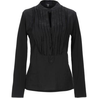 《期間限定セール開催中!》EUROPEAN CULTURE レディース T シャツ ブラック XS コットン 97% / ポリウレタン 3%