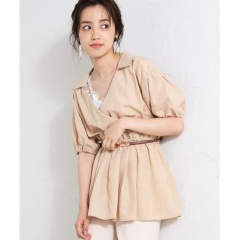 シャツ - WEGO【WOMEN】 カシュクールチュニックシャツ WE19SM05-L021