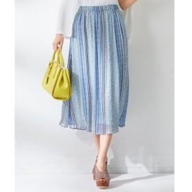 組曲 / クミキョク 【洗える】CavaliereAzzurroストライププリント スカート