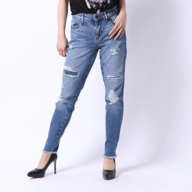 ゲス GUESS DISTRESSED SEXY CURVE SKINNY DENIM PANT (ELLIOT WASH)