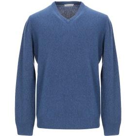 《セール開催中》FILIPPO DE LAURENTIIS メンズ プルオーバー ブルー 56 スーパー120 ウール 90% / カシミヤ 10%