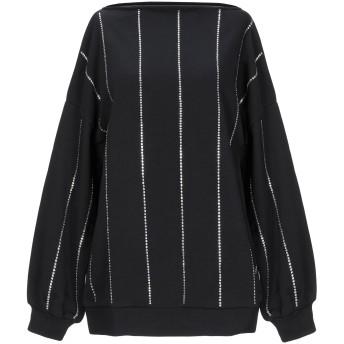 《セール開催中》8PM レディース スウェットシャツ ブラック XS コットン 65% / ポリエステル 35% / ポリウレタン