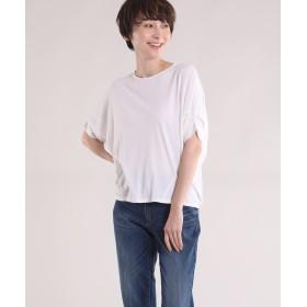 I.T.'S. international フレンチスリーブワイドカットソー Tシャツ・カットソー,オフホワイト1