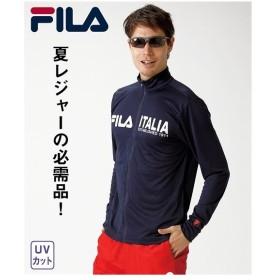 FILA パジャマ カジュアル メンズ UVフルジップ ジャケット リラックス M/L/LL ニッセン