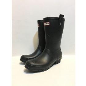 代官山) ハンター HUNTER オリジナル ショート ブーツ ブラック UK7 26cm メンズ レイン シューズ