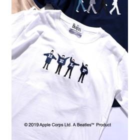 シップス SU: BEATLES Tシャツ ユニセックス オフホワイト SMALL 【SHIPS】