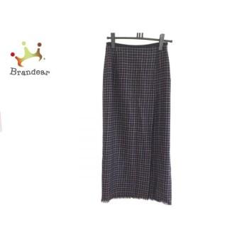 ニジュウサンク 23区 ロングスカート サイズ38 M レディース ダークネイビー×白×ベージュ スペシャル特価 20190902