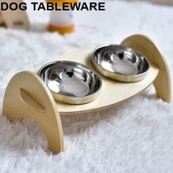 ペット用品 お皿 フードボウル 食器台 犬 猫 給餌 給水 ボウル 2口 セパレート ペットグッズ ステンレス 食器