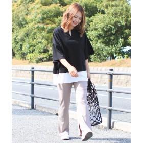 ソーシャルガール レイヤードビッグTシャツ レディース ブラック M 【SocialGIRL】