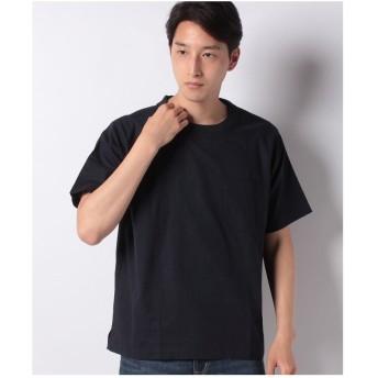 ikka コットンプルオーバーシャツT(ブルー)【返品不可商品】