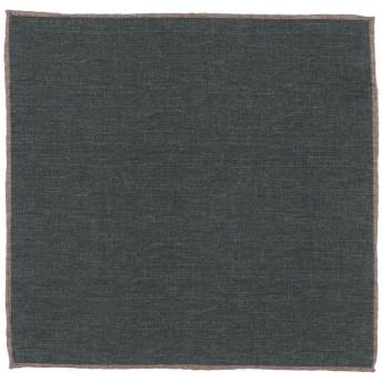 《9/20まで! 限定セール開催中》ELEVENTY メンズ スカーフ ダークグリーン ウール 50% / コットン 50%