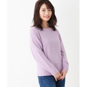 ニット・セーター - pink adobe ラメフェザーヤーン ボートネック ニット