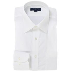 タカキュー 形態安定スリムフィットブロードレギュラーカラー長袖シャツ メンズ ホワイト M:39-84 【TAKA-Q】