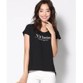 VICKY / ビッキー 異素材使いロゴTシャツ