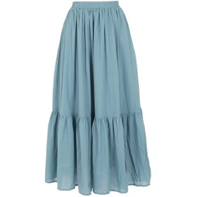 コウベレタス KOBE LETTUCE 裾ティアードスカート (ブルー)