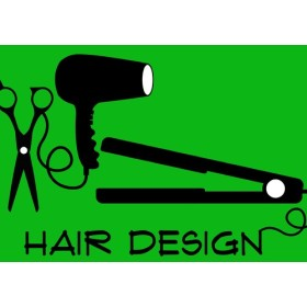 hairdesign ヘアアイロン ロゴ SHOP名入れ無料