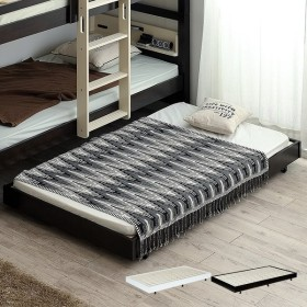耐荷重200kg/キャスター付き スライドベッド スライドベット シングル シングルベッド シングルベット コンパクト ベッドフレーム シンプル 子ベッド 2色対応