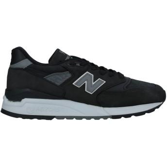 《セール開催中》NEW BALANCE メンズ スニーカー&テニスシューズ(ローカット) ブラック 7.5 革 / 紡績繊維