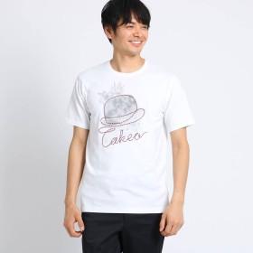 タケオ キクチ TAKEO KIKUCHI ボーラーロープ刺繍Tシャツ (ホワイト)