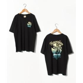 マルカワ 大きいサイズ メンズ ピコ プリント 半袖 Tシャツ サーフ ブランド メンズ ブラック 3L 【MARUKAWA】