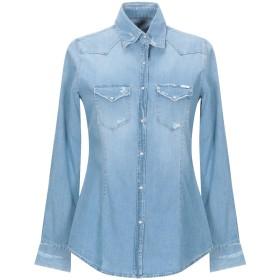 《セール開催中》AGLINI レディース デニムシャツ ブルー 40 コットン 98% / ポリウレタン 2%