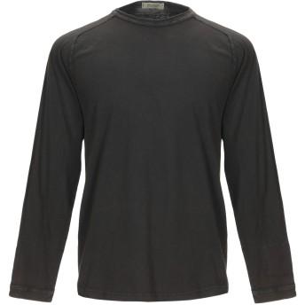 《セール開催中》CROSSLEY メンズ T シャツ ダークブラウン S コットン 100%