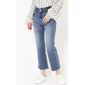 STRETCH SEMI FLARE DENIM ブルー