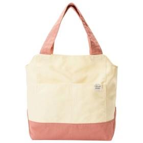 40%OFF洗えるキャンバストートバッグ - セシール ■カラー:ピンク系