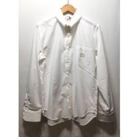 経堂) ギャングスタービル GANGSTERVILLE ピン コットン シャツ サイズS 日本製 ホワイト メンズ