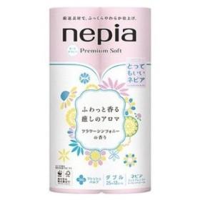 ネピア nepia(ネピア) プレミアムソフト トイレットペーパーフラワーシンフォニーの香り  ダブル  (12ロール) 〔トイレットペーパー〕