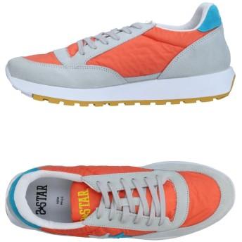《期間限定セール開催中!》2STAR メンズ スニーカー&テニスシューズ(ローカット) オレンジ 44 革 / 紡績繊維
