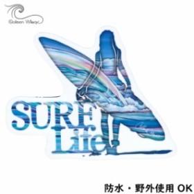 【Colleen Wilcox】 コリーンウィルコックス SURF LIFE ステッカー 耐水 野外使用OK ハワイアン雑貨 スマホ 車 バイク インスタ映え
