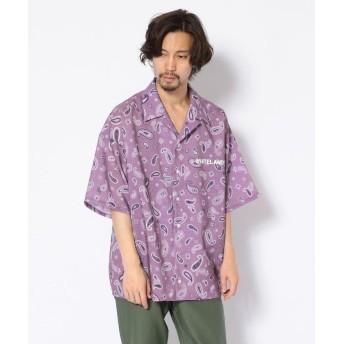 エルエイチピー WHITELAND/PAISLEY ショートスリーブシャツ メンズ PURPLE F 【LHP】