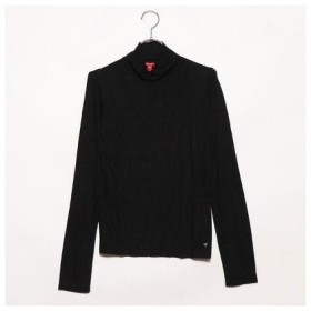 ゲス GUESS LS COSMO MOCK TOP (JET BLACK)