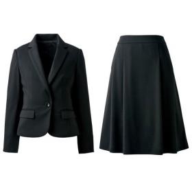 【レディース】 ジャージスカートスーツ(洗濯機OK) - セシール ■カラー:ブラック ■サイズ:13AR70,11AR67,7AR61,13ABR76,11AT67,15ABR80,19ABR88,21ABR92,9AR64,17ABR84,13AT70,5AP58,7AP61