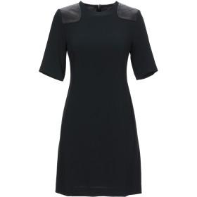 《セール開催中》MARC BY MARC JACOBS レディース ミニワンピース&ドレス ブラック 2 トリアセテート 69% / ポリエステル 31% / 羊革(ラムスキン)